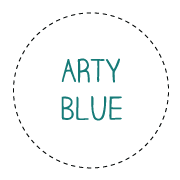 arty-blue-words